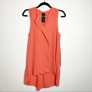 Heather 100% Silk Lightweight Sleeveless Tunic Top